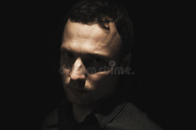 Close-up portrait of young European man royalty free stock images