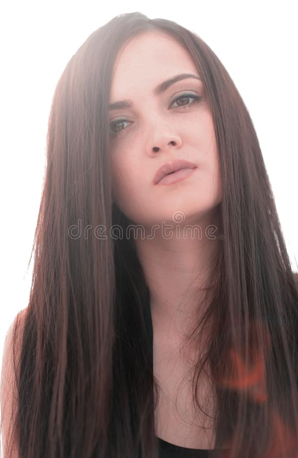 Close up.portrait of a young successful woman. royalty free stock images