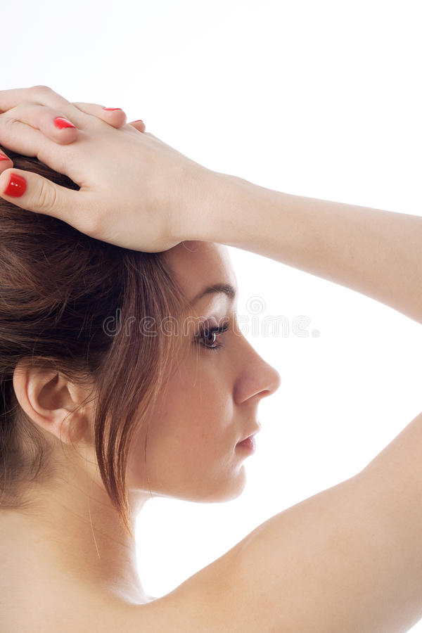 Download Close-up Portrait Of A Young Woman Stock Image - Image of portrait, people: 22529189