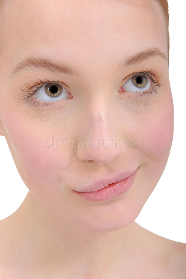 Close-up portrait of young woman royalty free stock photography