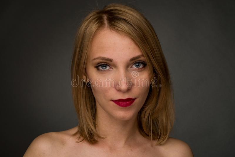 Close-up portrait of a young woman with acne skin problem on her face. Image, girl, treatment, pimple, facial, ugly, dermatology, blemish, care, makeup stock photos