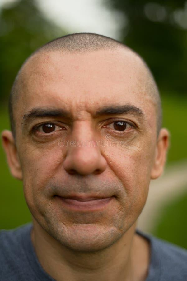 Close-up portraite van de mens stock foto