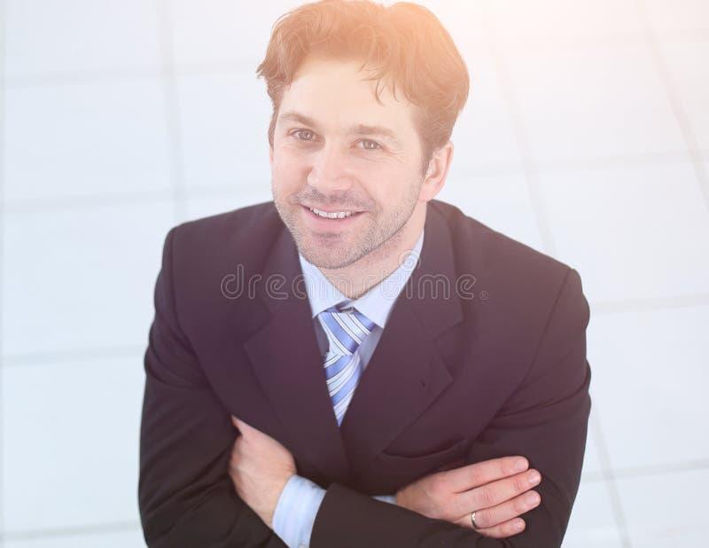 close-up Portret van een succesvolle zakenman royalty-vrije stock foto