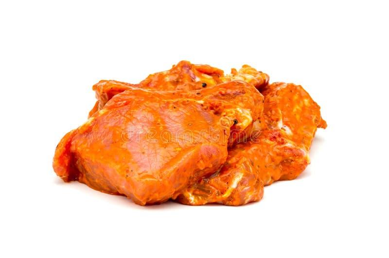 Close up posto de conserva carne isolado em um branco imagem de stock