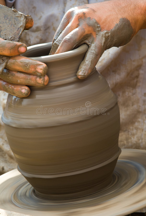 Download Close-up of potter stock photo. Image of human, pottery - 7011268