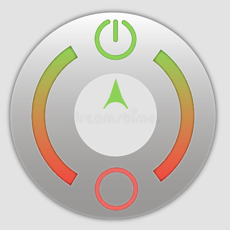 Close-Up Of Power Button. And play vector illustration