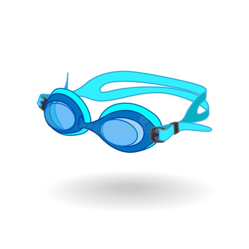 Close-up preto dos óculos de proteção ilustração royalty free