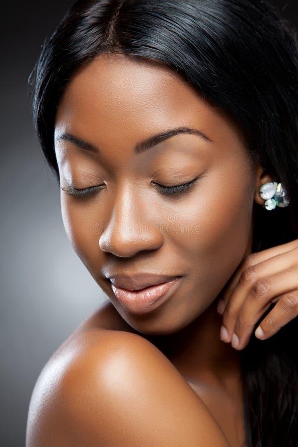 Close up preto perfeito da beleza fotos de stock