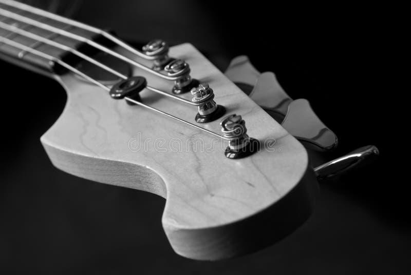 Close up principal da guitarra imagem de stock
