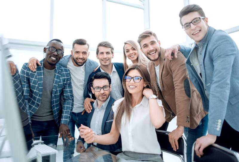 Close up.professional business team in a modern office royalty free stock images