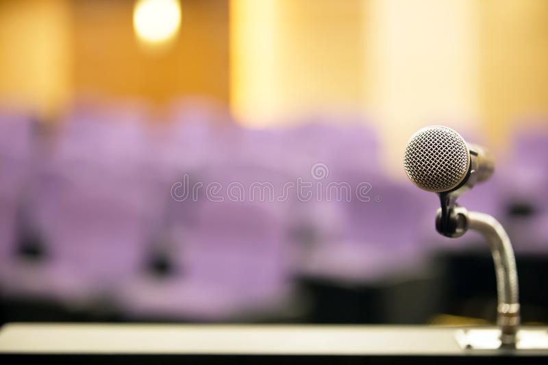 Close up professional meeting microphone. royalty free stock image