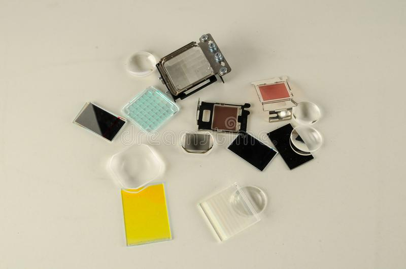Close-up of projector parts royalty free stock images