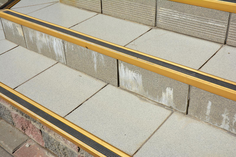 Download Close Up On Protect From Ice Cover Slippery Stair Case. How To  Avoid Danger