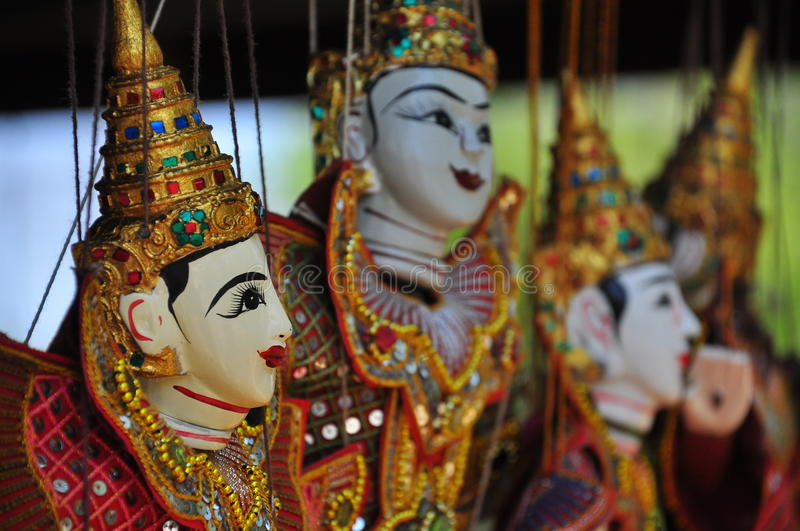 Close-up Puppetry Art of Thai. Focus close-up Puppetry Art of Thai stock images