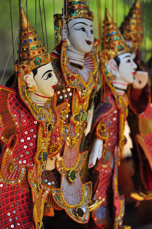 Close-up Puppetry Art of Thai. Focus close-up Puppetry Art of Thai royalty free stock images