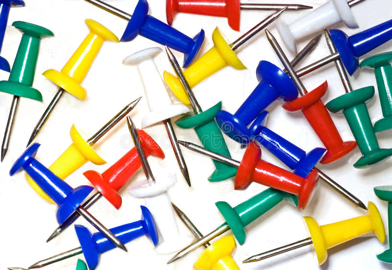 Download Close up of  push pins stock image. Image of memo, equipment - 22681605