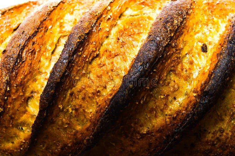 Close up queimado do pão imagem de stock