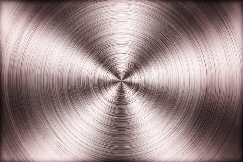 Close up radial metal texture.  royalty free stock photos