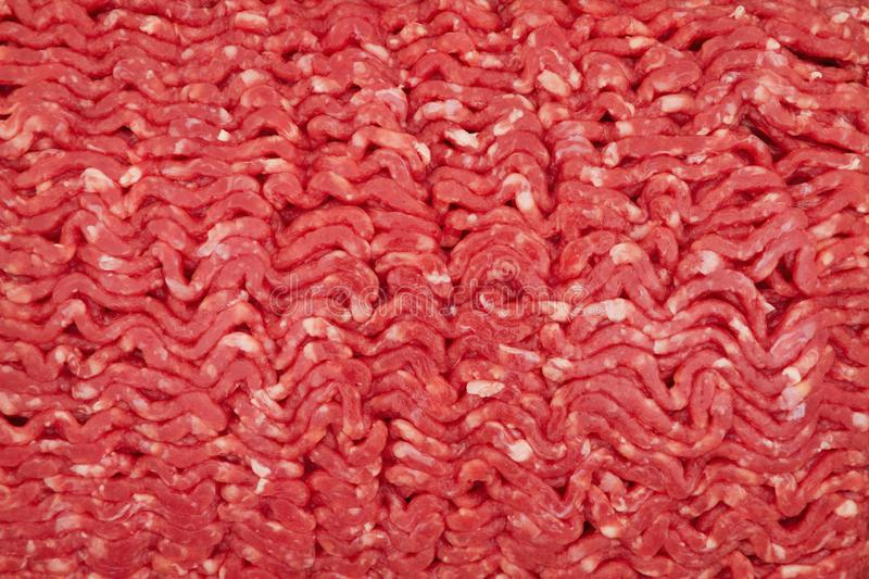 Close-up of raw ground beef royalty free stock image