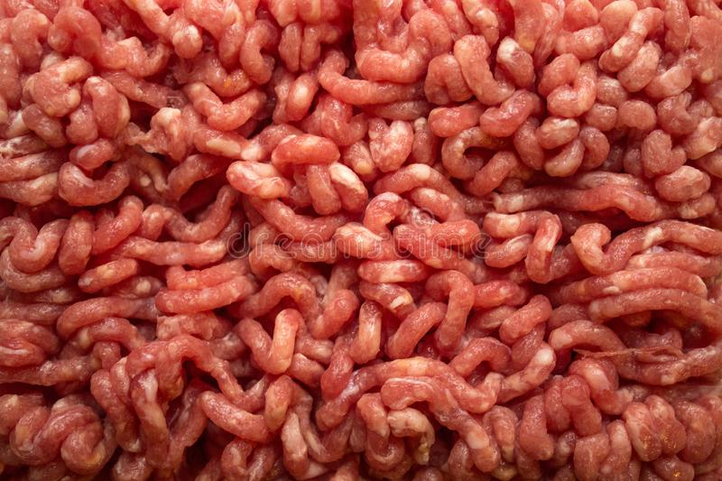 close up Raw Minced Meat textured background, top view stock photos
