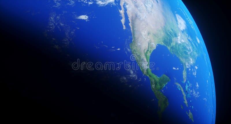 Close up realístico da terra do planeta ilustração stock
