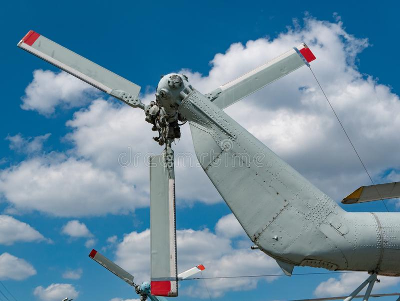 Close-up of rear helicopter propeller royalty free stock photos