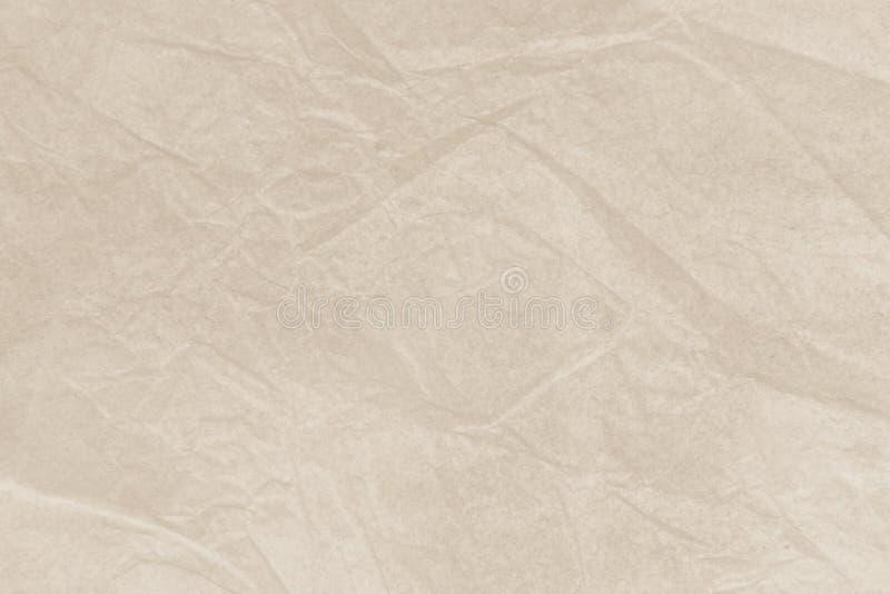 Close up reciclado natural do papel ou do documento da textura s do enrugamento imagem de stock