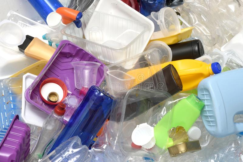 Close up of a Recycling plastic royalty free stock photo