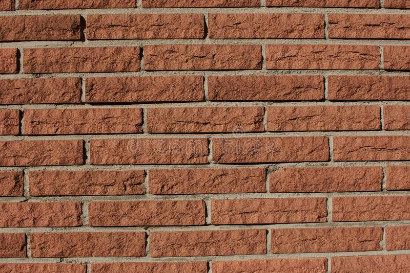 Close up of a red brown brick wall stock photography