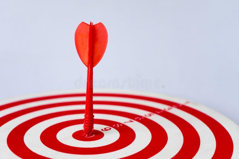 Close up red dartboard stock photo