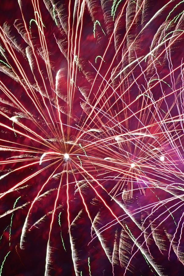 A close up of a red firework stock photo