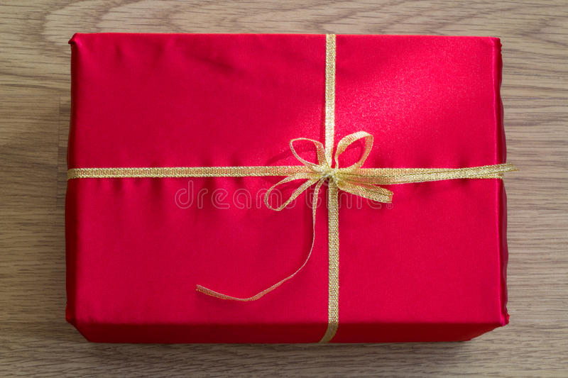 Close-up of Red Gift. stock photo