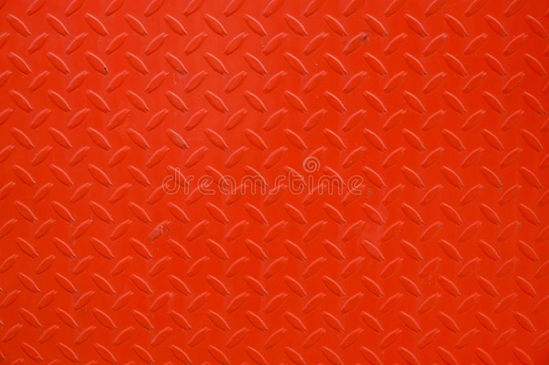 Close up Red metal sheet board background texture.  stock image