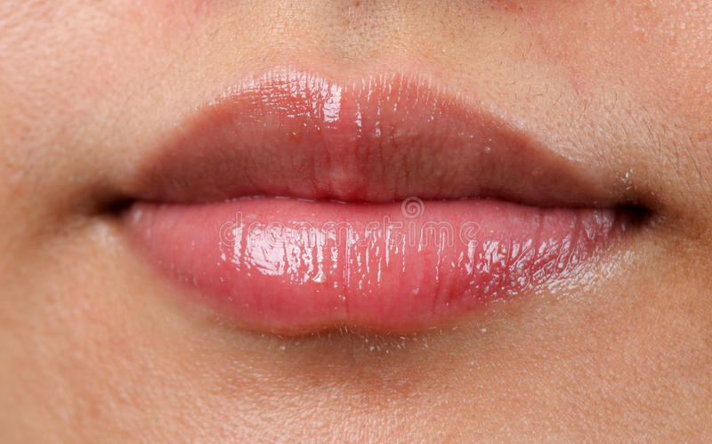 Close up of a red mouth royalty free stock photography