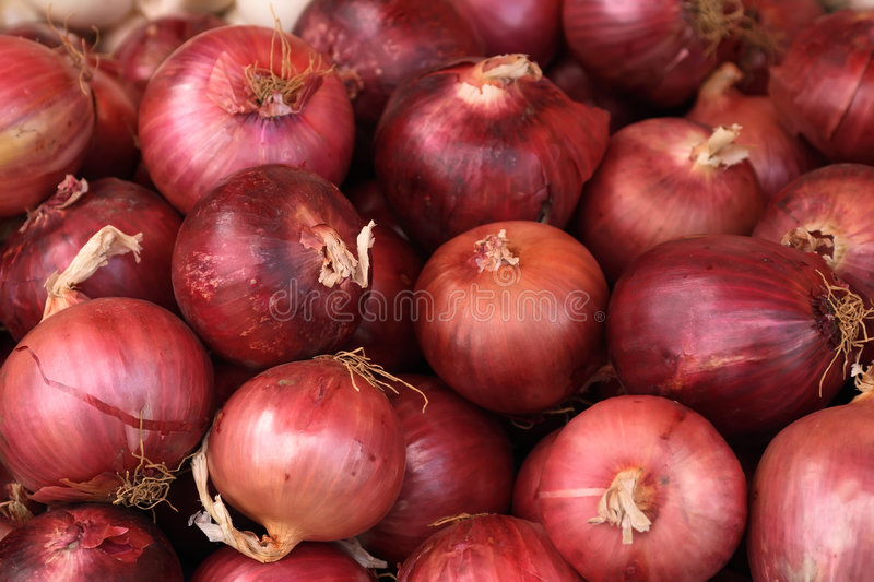 Close-up of red onions royalty free stock images