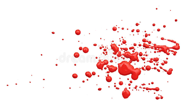 Close up of red paint drops stock photography
