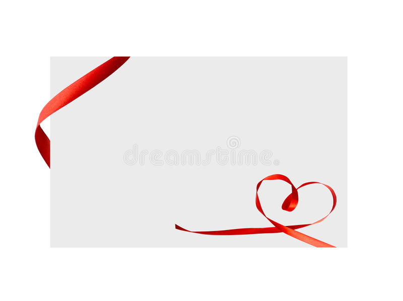 Close up of a red ribbon bow on white background. Close up of a red ribbon bow on white stock illustration