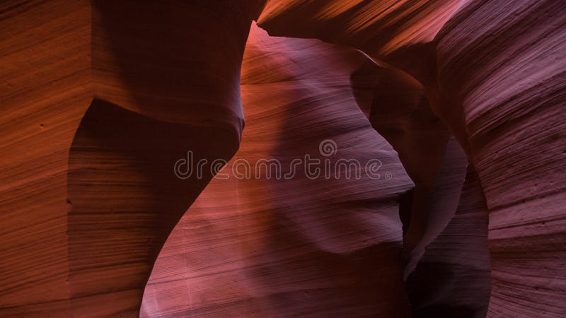 Close up of red rock at Lower Antelope Canyon stock image