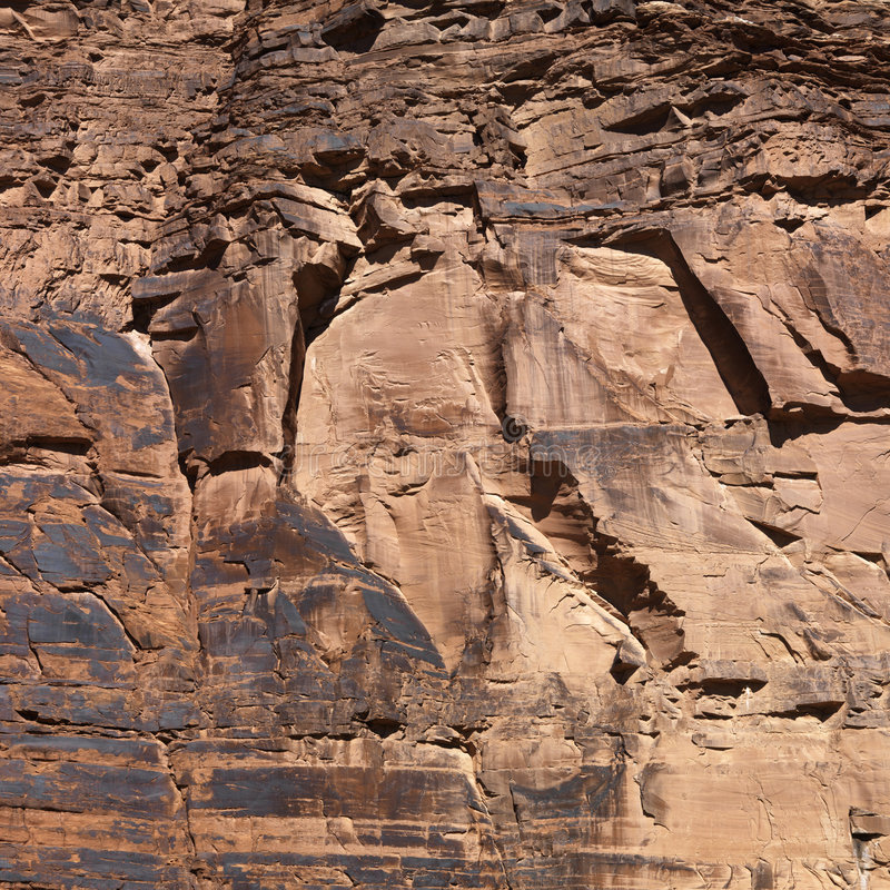 Close-up of red rock wall royalty free stock photo