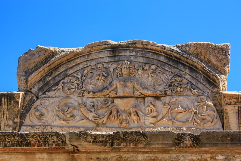 Temple of Hadrian in Ephesus, Turkey royalty free stock images
