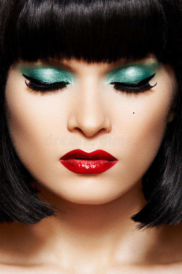 Download Close-up Retro Glamour Face. Disco Glitter Make-up Stock Image - Image of fashionable, clean: 17283955