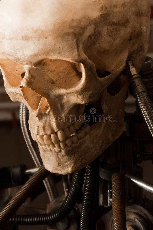 Download Close up of a robot stock photo. Image of death, grey - 19413980