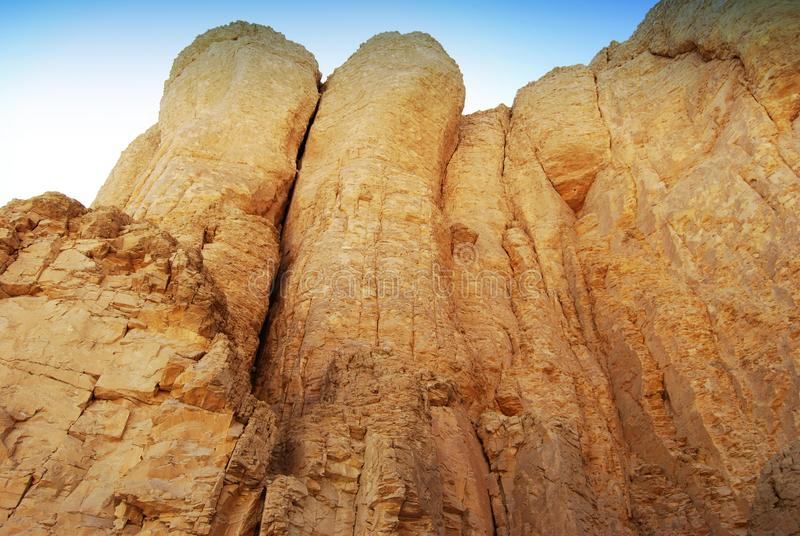 Close-up of the rocks in the valley of the kings, Egypt. Close-up of the rocks in the valley of the kings royalty free stock images