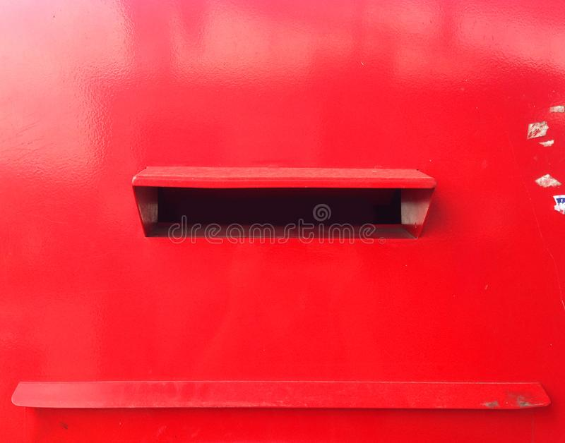 Close-up rode postbox in Thailand royalty-vrije stock fotografie