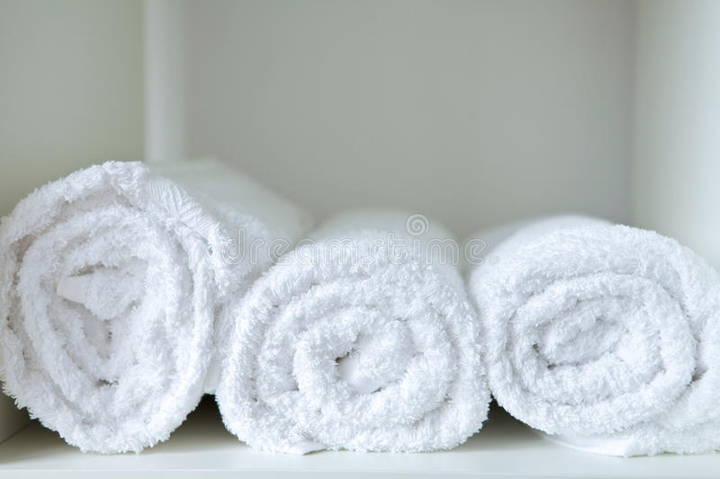 Close-up of rolled towels royalty free stock images