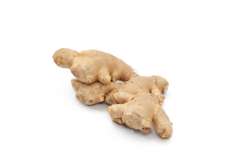 Root ginger isolated on white stock image