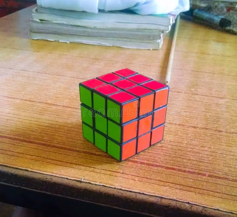 Close up of rubik `s cube stock photos