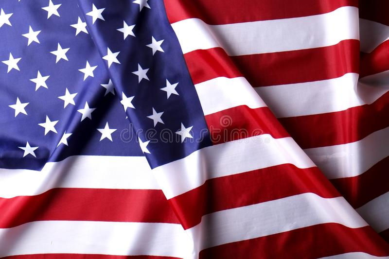 Background flag of the United States of America for national federal holidays celebration and mourning remembrance day. USA symbol royalty free stock image