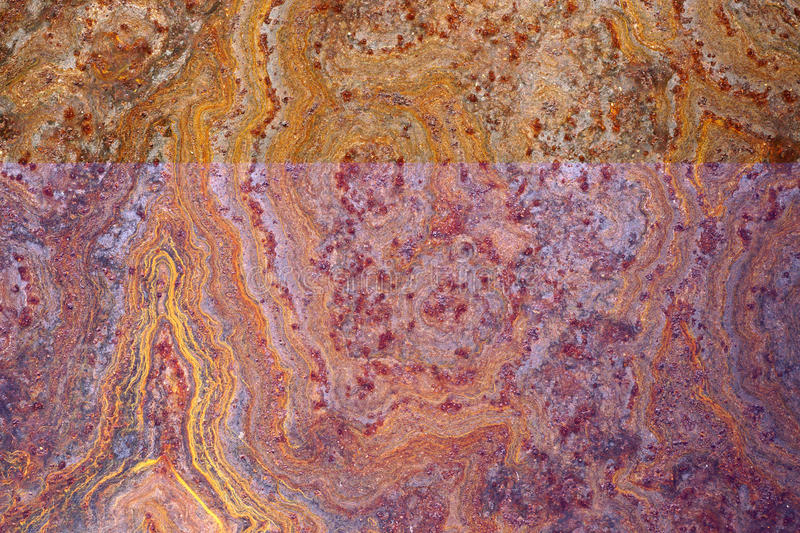 Close up of rusted corroded grunge rough metal surface 1 stock photography