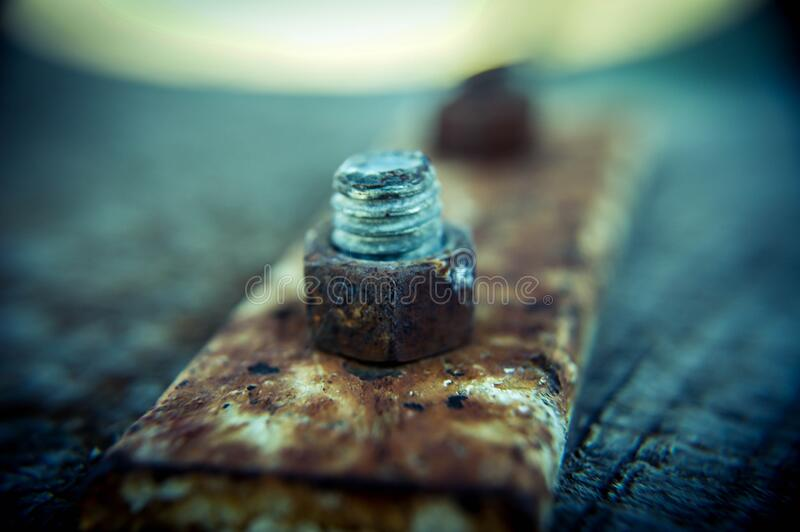 Close Up Of Rusty Nut And Bolt Free Public Domain Cc0 Image